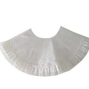 Vintage Lolita Steampunk White Cotton Linen Collar